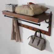 Wall-mounted coat racks, creative multi-functional wall shelves, wall hangers, solid wood coat rack
