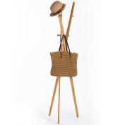 ZJM- Bamboo Clothes Tree Simple Hatstand Coatrack Hat Rack 177cm