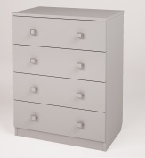 Polini Kids Simple Collection Drawer Unit with 4 Drawers, White