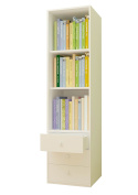 Polini Kids Simple Collection Shelving Unit with Drawers, White