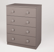 Polini Kids Simple Collection Drawer Unit with 4 Drawers, Grey