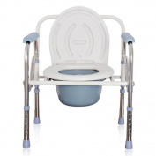 Folding Commode Toilet Seat Adjustable Height Mobility Disability Aid Bathroom Commode Chair