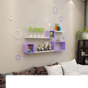 Amour Lighting Wall purple lattice racks bedroom white partition living room background wall decoration shelf shelf