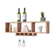 Amour Lighting Oak wall shelves can put wine glasses shelf living room wall shelf