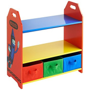 Crayola 3 Tub Wooden Shelving Unit Childrens Furniture Multicoloured