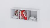 Polini Kids Classic Book Shelf, White/Macchiato