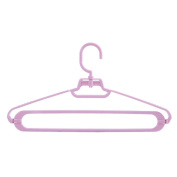 MAX-YIADD 10pce Adult Coat Hangers Colour Strong Plastic Clothes (39cm Wide) Designed for Delicate Clothes , purple