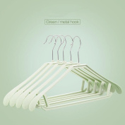 MAX-YIADD 10pce Plastic coat hangers with broad ends for coats, jackets, suits, trousers & skirts , 4