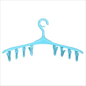 MAX-YIADD 5pce Hangerworld Plastic 8 Peg Sock/Underwear Clothes Hanger - Indoor Laundry - Keeps Smaller Items Together , 2