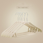 PUMWC 10pce Plastic coat hangers with broad ends for coats, jackets, suits, trousers & skirts , 2