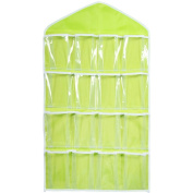 Vikenner Clear Hanging Storage Bag Case Oxford Waterproof Wall Door Closet Organiser with 16 Pockets for Gadget Makeup Toys - Green