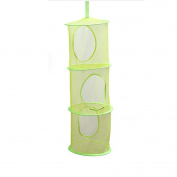 TELLW 82*28CM Hanging type colour network multi-layer hanging basket hanging cage hanging cage cylindrical storage hanging bag multifunctional bra drying basket