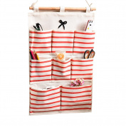 TELLW 49*34.5cm Fabric wall hanging multi-layer wardrobe storage bag