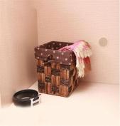 GUANSIJIE® Laundry Basket Rattan Dirty Clothes Basket Home Simplicity Hand Made Willow Weave Living Room Storage Basket Storage Bucket Wastebasket 23*23*26Cm , C