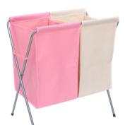GUANSIJIE® Laundry Basket Folded Double Basket Cloth Dirty Clothes Basket Home Simplicity Breathable Anti-mildew Moisture-proof Storage Basket Storage Bucket Wastebasket , D
