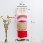 CUPWENH Fabric Storage Bag, Wall Hanging Bag, Hanging Bag, Sundries Storage Box,J
