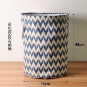 CUPWENH Thickened Toy Instoragebarrels Cotton Dirty Clothes Basket Folding Laundry Basket Waterproof Clothes Storage Basket,A