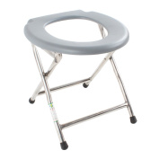 Shower chair Fold Stainless Steel Portable Sitting On The Toilet Bench Pregnant Women Bathe Toilet Chair Patient