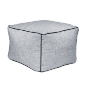 Linen Look smart home Square Pouffe with handle ideal for any room in the home perfect for sitting on or resting feet on