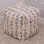 Luxury Cosmos Retro Design Cube Bean Bag with Blue Highlights