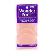 Wonder Pro Pink Poly Sponges for Foundation 3 Pieces