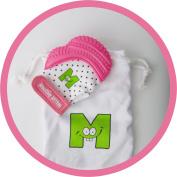 Mouthie Mitten Teething Mitten - Pink Shimmer
