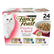 Purina Fancy Feast Grilled Poultry & Beef Collection Cat Food 24-90ml Cans