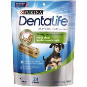 Purina DentaLife Daily Oral Care Mini Adult Dog Treats, 24 Ct