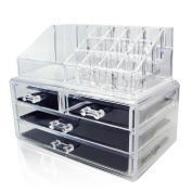 Acrylic Makeup Organiser Cosmetic Jewellery Display Box 2 Piece Set by AcryliCase