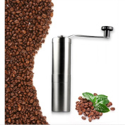 Portable Manual Coffee Grinder Hight Qulity Stainless Steel Washable Ceramic Core Adjustable Fineness Grinder Home Or Camping,OneColor