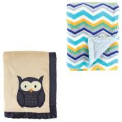 Hudson Baby Boys' Plush Blanket, 2-Pack, Choose Your Colour