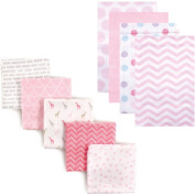 Luvable Friends Baby Girls' Flannel Receiving Blanket, 9-Pack, Choose Your Colour