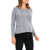 Great Expectations Maternity Long Sleeve Faux Layered Twofer Top