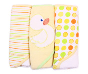 Spasilk 3 Hooded Towel Set, Yellow Duck