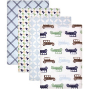 Hudson Baby Receiving Blankets Flannel 4-Pack