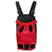 Pet Backpack,Legendog Pet Carrier Red Lets out Front Chest Pet Backpack Dog Carrier Backpack for Travel