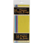 Assorted Pastel Tissue Paper Sheets, 10ct