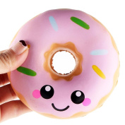 Stress Reliever Toys, JYC Squishy Toy Creative Stress Reliever Super Slow Rising Colourful Doughnut Scented Cream Scented Soft Squeeze Toy