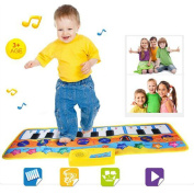 Beauty Top Education Toys, New Touch Play Keyboard Musical Music Singing Gym Carpet Mat Best Kids Baby Gift