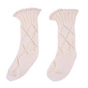 Bluelans Baby Kids Toddler Winter Lace Top Decor Soft Knee High Leg Warmer Knitting Socks