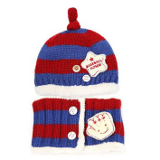 Bluelans Toddler Infant Kid Baby Fashion Winter Warm Knitted Striped Hat + Scarf Gift