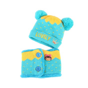 Bluelans Winter Kids Toddlers Baby Girls Boys Lovely Knitted Warm Hat Beanie Cap + Scarf