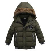 Kolylong Kids Girl Boy Winter Padded Jacket, Cotton Hooded Coat Thick Warm Fashion Outwear Clothes