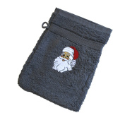 Wash Mitt Santa Claus 31216 – 20 x 16 cm Grey