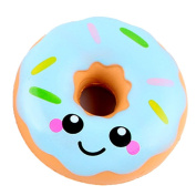 NXDWJ Cute Face Doughnut Cream Scented Squishy Toy Slow Rising Squeeze Lovely Small Soft Gadget Pressure Relief Stress Exit