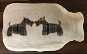Hot Water Bottle with Knitted Cover - Dogs Design