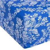 Eiffel Textile Printed Mattress Cover for 105 Bed, algodón-poliéster, Blue, 30 x 15 x 3 cm