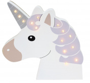 Wall Hanging Wooden Unicorn Head Light Up LED Bedroom Decoration