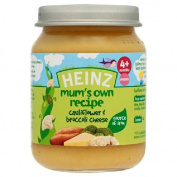 Heinz Mum's Own Cauliflower & Broccoli Cheese 4 Mths+ 128g