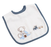 Bebe's Collection 517 40 Bib with Popper 30X40 Oskar Blue